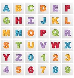 square polygon alphabet vector image