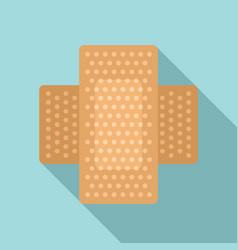 Survival skin plaster icon flat style vector