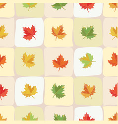 tile with maple leaves vector image