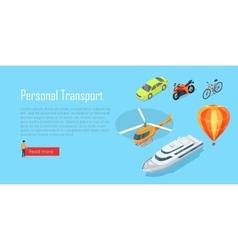 Transport Infographic Public Transport vector
