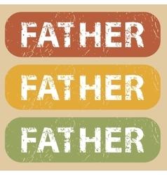 Vintage FATHER stamp set vector
