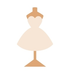 Wedding dress isolated on white background vector