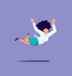 Woman is falling down vector