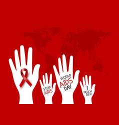 world aids day design vector image