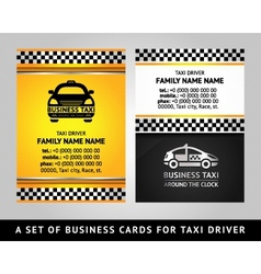 Business card - TAXI CAB vector image vector image