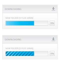 Downloading progress bar vector image