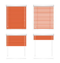 realistic red window jalousie roller shutters vector image vector image