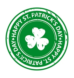 St patricks day rubber stamp vector image