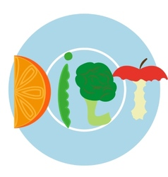Blue diet plate vector image vector image