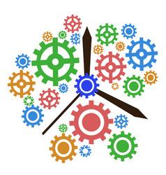 color gear clock background vector image vector image