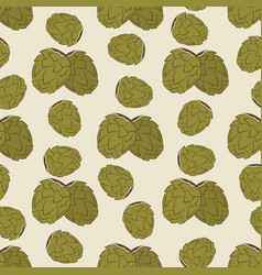 green hop seamless pattern design - vintage vector image vector image