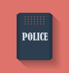 Icon of Police assault shield Flat style vector image