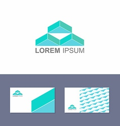 Logo design element with business card template vector image vector image