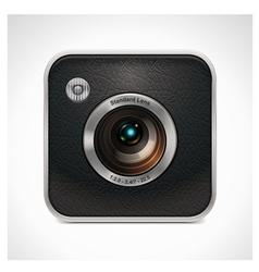square retro camera icon vector image vector image