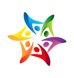 Teamwork united logo vector image