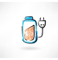Battery grunge icon vector image