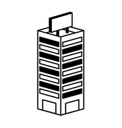 building isometric isolated icon vector image