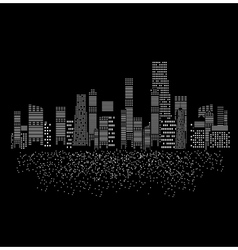cities silhouette vector image vector image
