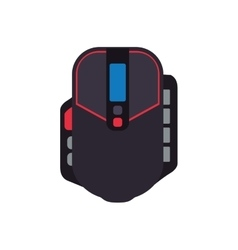 control mouse pixel video game play icon vector image