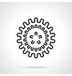 Influenza virus black line design icon vector image vector image