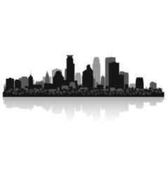 Minneapolis USA city skyline silhouette vector image vector image