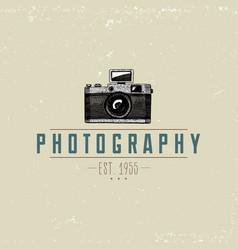 photo logo emblem or label video film movie vector image