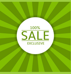 sale label on green background vector image