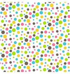 Seamless Bright Abstract Dots Chaos Pattern vector image