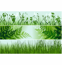 three nature banners vector image vector image