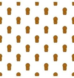 Wooden garden door pattern cartoon style vector image vector image