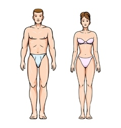 Man and woman healthy body figures vector image vector image