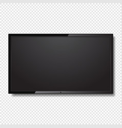 realistic blank led tv screen on transparent vector image