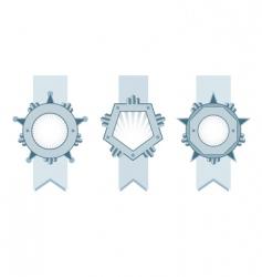 shield ribbons vector image