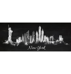 Silhouette chalk New york vector image vector image