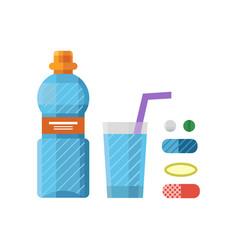 water plastic sport bottle transparent mineral vector image
