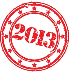 2013 stamp vector image