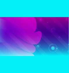 Abstract background basic geometry on colorful vector