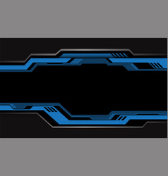 Abstract blue grey circuit cyber metallic black vector