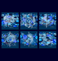 abstract composition with simple geometric vector image