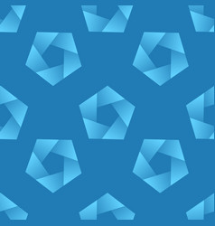 Abstract seamless pattern with pentagons vector