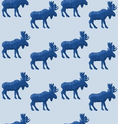 Abstract triangular moose vector image
