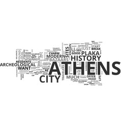 Athens a walk on the wild side text word cloud vector