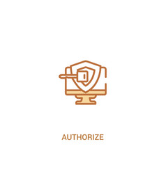 authorize concept 2 colored icon simple line vector image