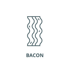 bacon line icon bacon outline sign vector image