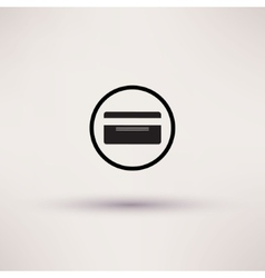 Bank credit card icon Flat design style vector