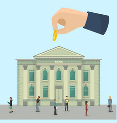 Bank financial business investment office building vector