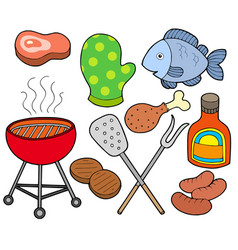 Barbeque collection vector