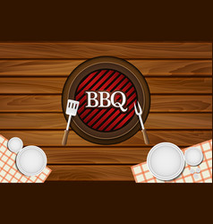 bbq party restaurant table background vector image