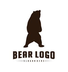 bear logo icon designs bears logo concepts icon vector image