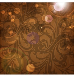 Brown Floral Patterned Background vector